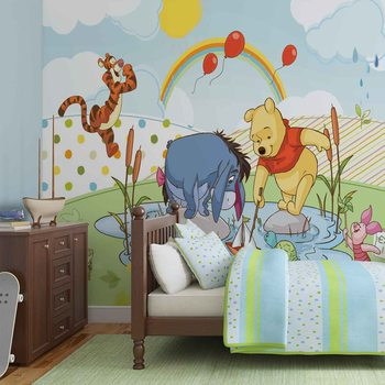 Disney Winnie l'Ourson Porcinet Tigrou Bourriquet Poster Mural XXL