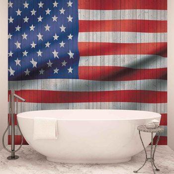 Drapeaux Américain USA Poster Mural XXL