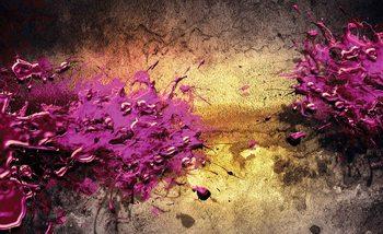 Explosion de couleur abstrait Poster Mural XXL