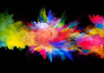 Explosion de couleur Poster Mural XXL