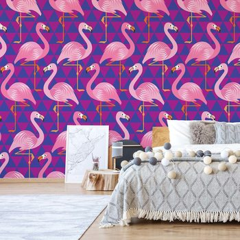 Flamingo Pattern Poster Mural XXL