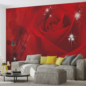 Fleur Rose Rouge Poster Mural XXL