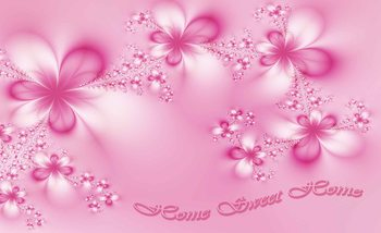Fleurs Accueil Rose Poster Mural XXL