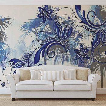 Fleurs Art abstrait Poster Mural XXL