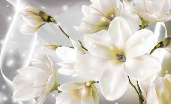 Fleurs blanches Poster Mural XXL