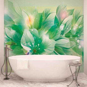 Fleurs Nature Vert Poster Mural XXL