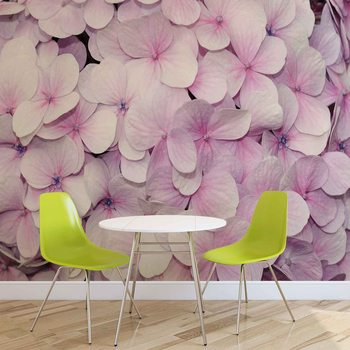 Fleurs Violettes Design Floral Poster Mural XXL