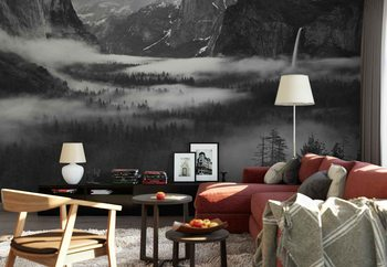 Fog Floating In Yosemite Valley Poster Mural XXL