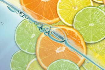 Food Fruits Lime Orange Lemon Poster Mural XXL
