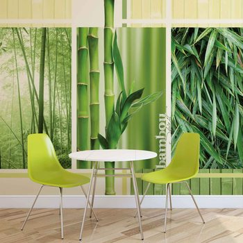 Forêt Bambou Nature Poster Mural XXL