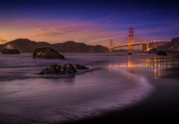 Golden Gate Bridge Fading Daylight Poster Mural XXL