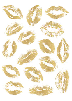 Golden Kisses Poster Mural XXL