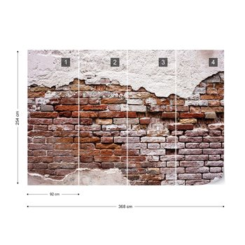 Grunge Brick Wall Poster Mural XXL