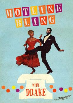 hotline bling Poster Mural XXL