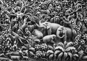 Jungle des éléphants Poster Mural XXL