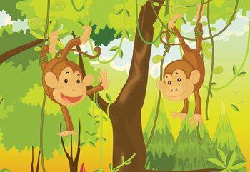 Jungle Monkeys Poster Mural XXL