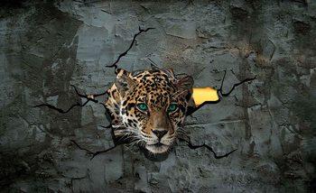 Leopard 3D Poster Mural XXL