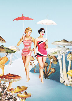 Let's pretend we're mushrooms Poster Mural XXL