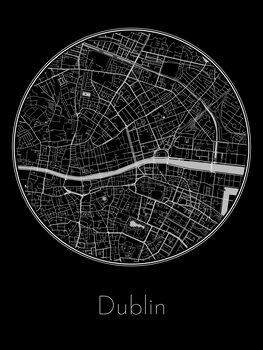 Map of Dublin Poster Mural XXL