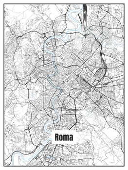 Map of Roma Poster Mural XXL