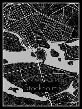 Map of Stockholm Poster Mural XXL