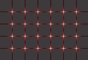 Modern Square Design Red Lights Poster Mural XXL
