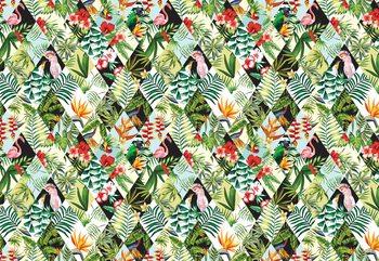 Modern Tropical Pattern Poster Mural XXL