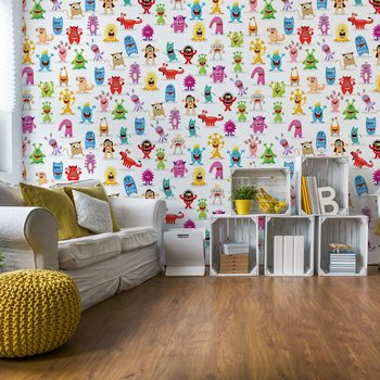 Monsters Pattern Poster Mural XXL