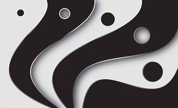 Motif Moderne abstrait Blanc et Noir Poster Mural XXL