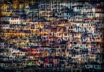 Multi House Poster Mural XXL