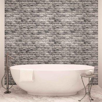 Mur de briques grises Poster Mural XXL