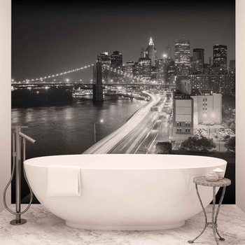 New York City Brooklyn Bridge Lights Poster Mural XXL