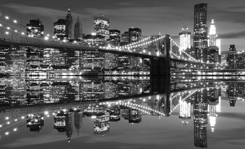 New York City Horizon Brooklyn Bridge Poster Mural XXL