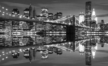 New York City Horizon Brooklyn Bridge Poster Mural XXL