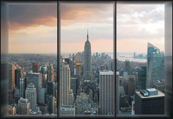 New York Skyline Window View Poster Mural XXL