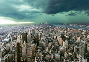 New York Under Storm Poster Mural XXL