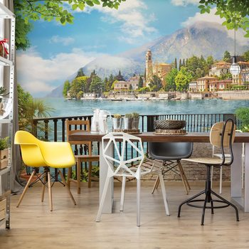 Paradise Lakeside View Poster Mural XXL