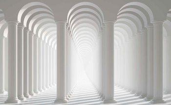 Passage entre colonnes Poster Mural XXL
