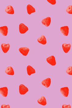 Raspberry heaven Poster Mural XXL