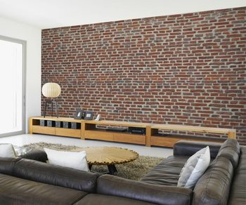 Red Brick Wall Poster Mural XXL