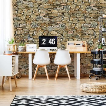 Rustic Stone Wall Poster Mural XXL