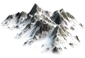 Snowy Mountain Poster Mural XXL
