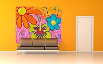 Spring Flowers Poster Mural XXL