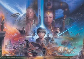 Star Wars Jeune Anakin Reine Amidala Poster Mural XXL