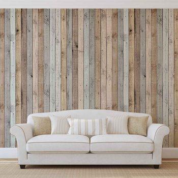 Texture de planches de bois Poster Mural XXL