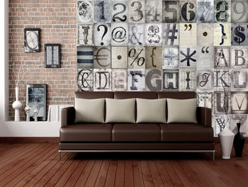 Typography Poster Mural XXL