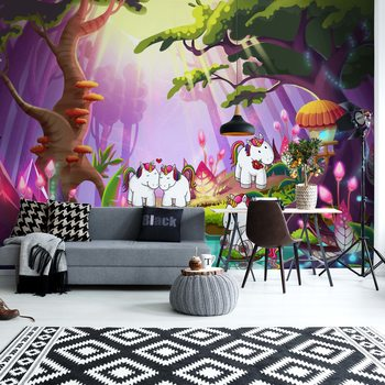 Unicorns In The Forest Poster Mural XXL