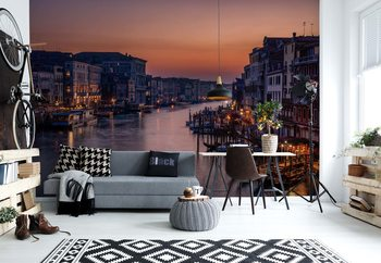 Venice Grand Canal At Sunset Poster Mural XXL