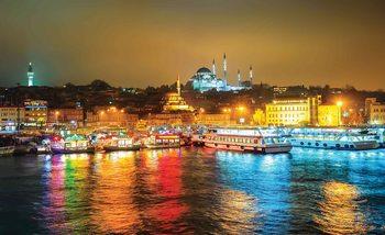 Ville Turquie Bosphore Multicolore Poster Mural XXL