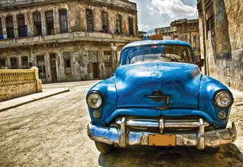 Vintage Car Cuba Havana Poster Mural XXL
